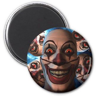 Evil Clowns with Bulging Eyes Fridge Magnets