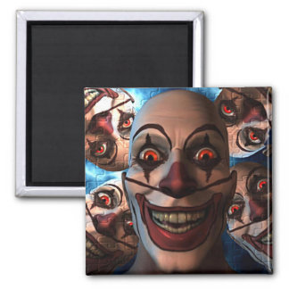 Evil Clowns with Bulging Eyes Magnets