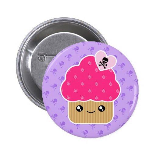 Evil Cute Cupcake Of Death Kawaii Button Badge