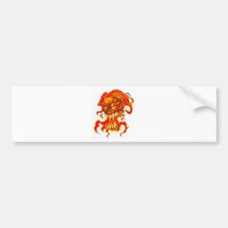 Evil Demon Art Bumper Sticker