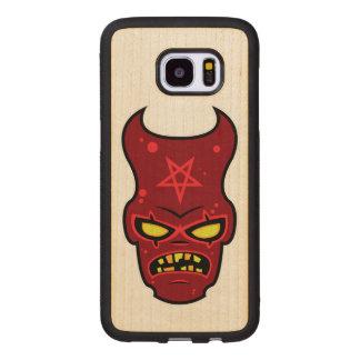 Evil Demon Illustration Wood Samsung Galaxy S7 Edge Case