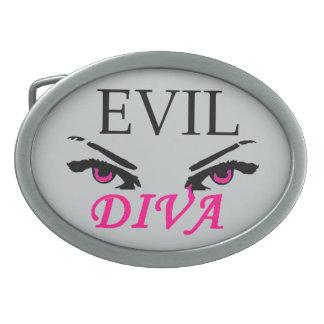Evil Diva with vampy eyes Belt Buckles