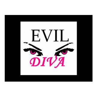 Evil Diva with vampy eyes Postcard