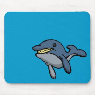 Evil Dolphin Mouse Pad