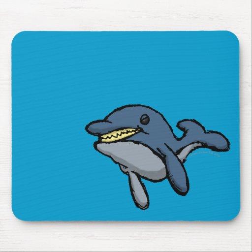 Evil Dolphin Mousepad