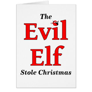 Evil Elf Belated Christmas Card