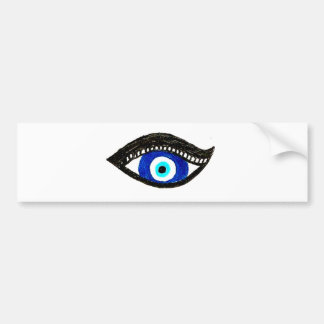 Evil eye bumper sticker