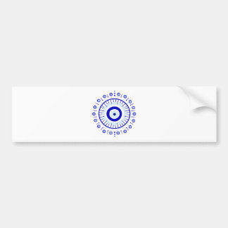 Evil Eye Burst Bumper Sticker