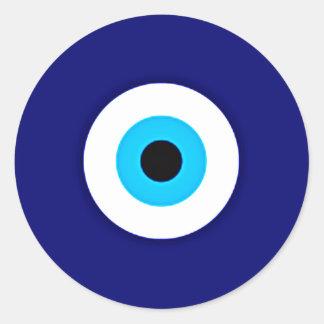 Evil Eye Charm Round Sticker