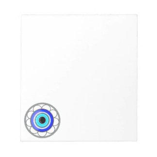 Evil Eye Good Luck Charm On A - Notepad