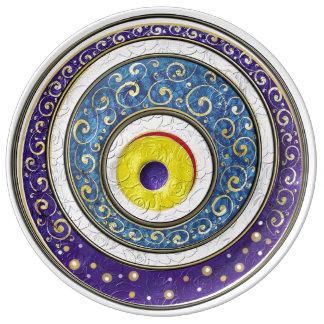 Evil Eye Porcelain Plate