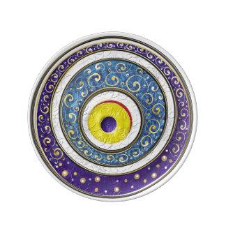 Evil Eye Porcelain Plates