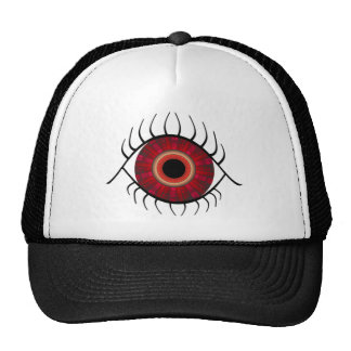 Evil Eye Red Mesh Hats