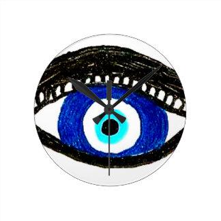 Evil eye round clock