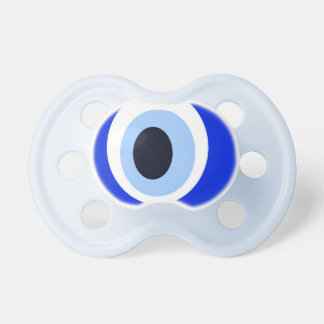 Evil Eye Stone Blue Baby Pacifier