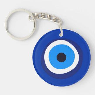 evil eye symbol greek turkish arab talisman key ring