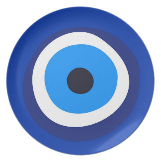 evil eye symbol greek turkish arab talisman plate