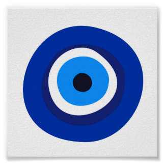 evil eye symbol greek turkish arab talisman poster