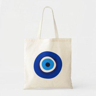 evil eye symbol greek turkish arab talisman tote bag