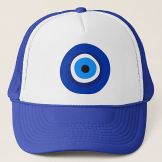 evil eye symbol greek turkish arab talisman trucker hat