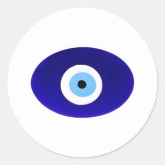 Evil Eye Talisman Classic Round Sticker