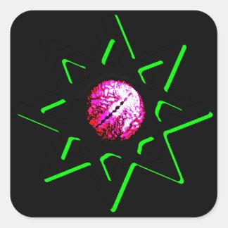 Evil Eye Talisman Diagonal - Octagram - Occult Square Sticker