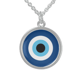 Evil Eye Talisman Sterling Silver Necklace