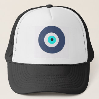 Evil eye trucker hat