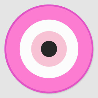 Evil Eye Ward Off Breast Cancer Classic Round Sticker