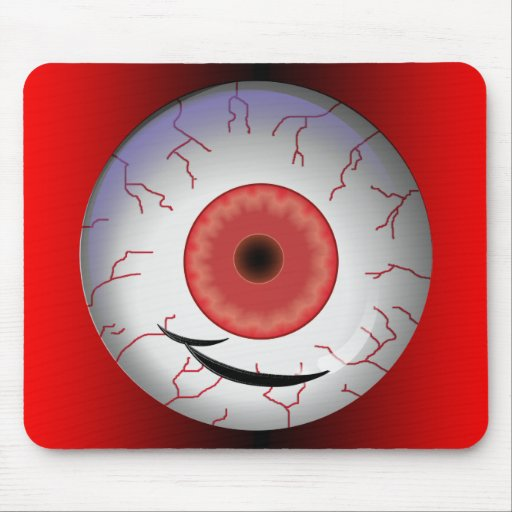 Evil Eyed Grin Mouse Pad