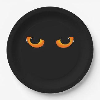 Evil eyes paper plate