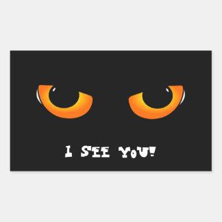 Evil eyes rectangular sticker