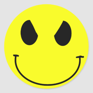 Evil face Smiley Sticker