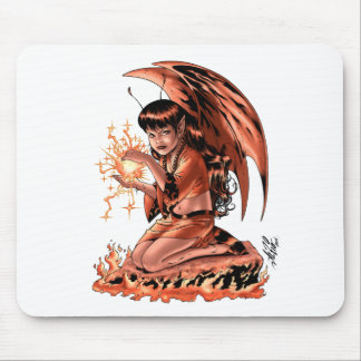 Evil Fairy doing Magic by Al Rio Mouse Pad