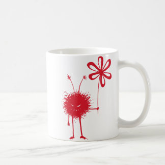 Evil Flower Bug Basic White Mug