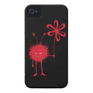 Evil Flower Bug Black Case-Mate iPhone 4 Cases