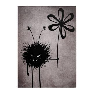 Evil Flower Bug Vintage Acrylic Wall Art