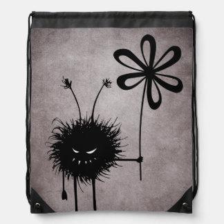 Evil Flower Bug Vintage Drawstring Bag
