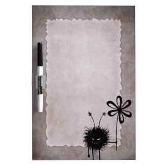 Evil Flower Bug Vintage Dry-Erase Board