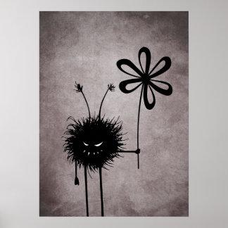 Evil Flower Bug Vintage Poster