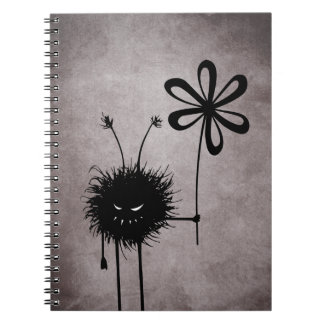 Evil Flower Bug Vintage Spiral Notebook
