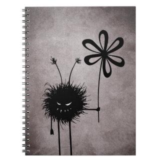 Evil Flower Bug Vintage Spiral Notebook