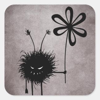 Evil Flower Bug Vintage Sticker
