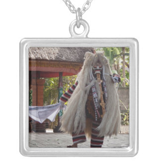 Evil from Ramayana Epic Square Pendant Necklace