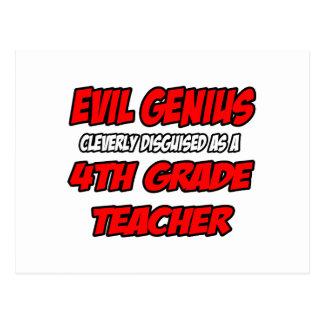 Evil Genius...4th Grade Teacher Post Card