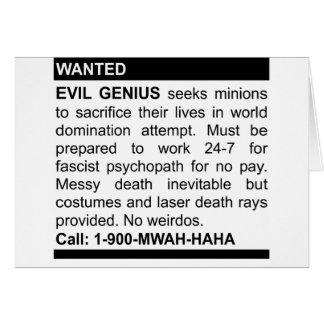Evil Genius Ad Card