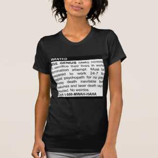 Evil Genius Ad Tee Shirt