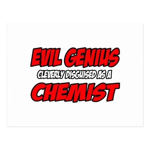 Evil Genius...Chemist Postcards