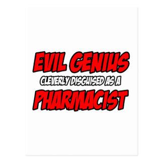 Evil Genius...Pharmacist Postcard