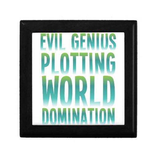EVIL GENIUS PLOTTING WORLD DOMINATION GIFT BOX